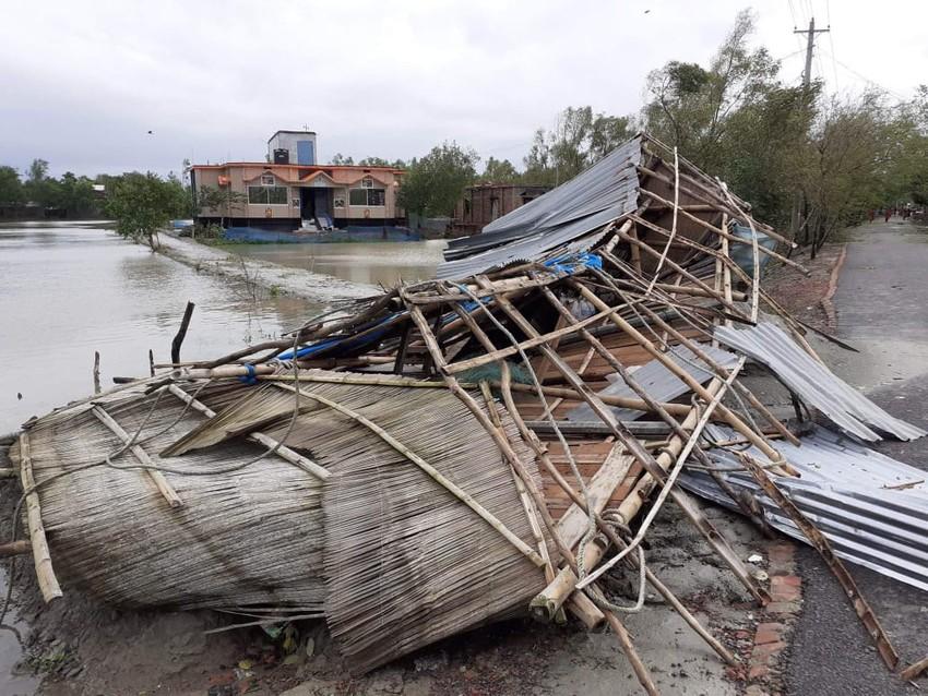 Un hogar demolido por el ciclón