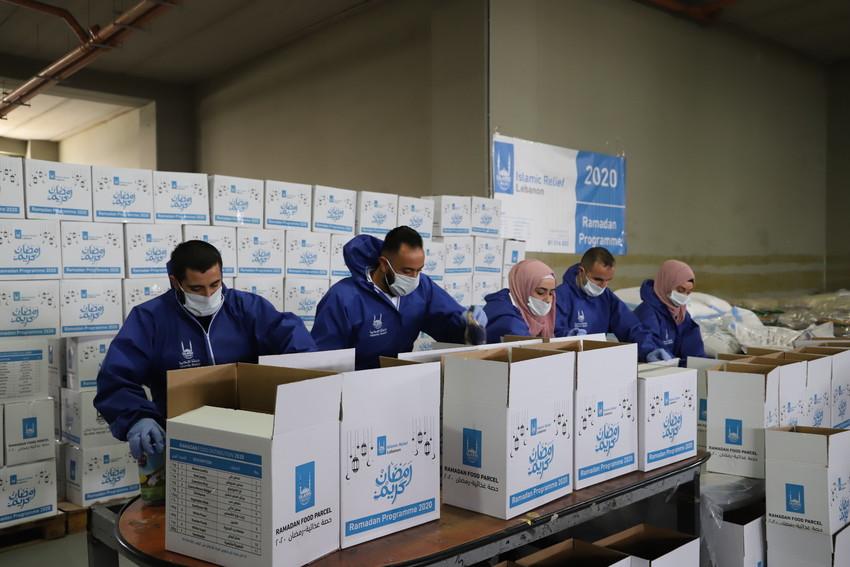 Preparación de lotes de alimentos en el Líbano
