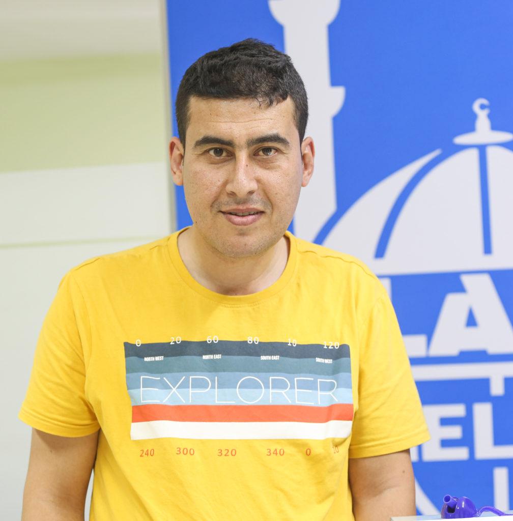Trabajador social infantile de Islamic Relief Mohammad Abdel Majeed Ismaeel.