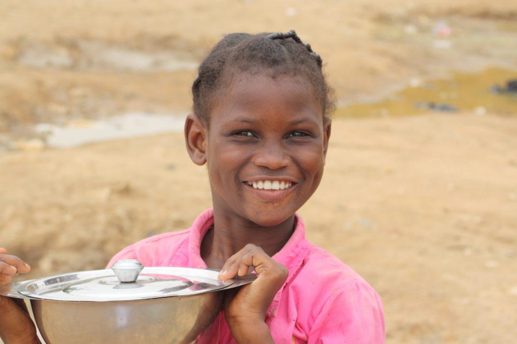 Niñas nigeriana sonriendo