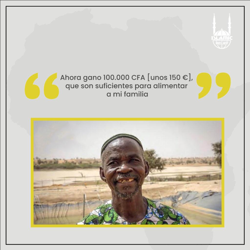 """""""Ahora gano 100.000 CFA [unos 150 €], que son suficientes para alimentar a mi familia"""", nos dice Idrissa."""