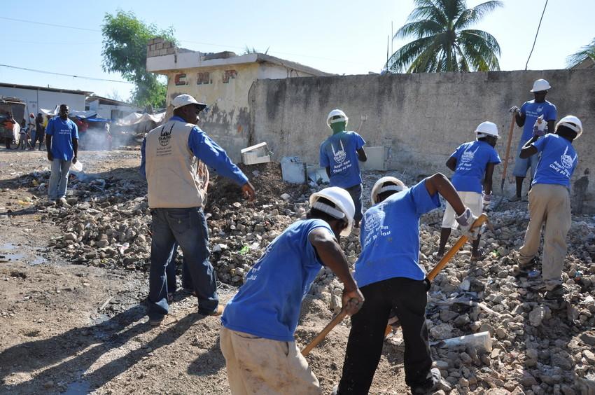 El equipo de Islamic Relief respondiendo ante la emergencia de Haiti